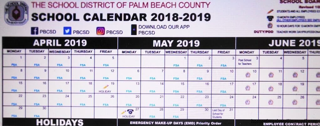 Wellington FL School Calendar