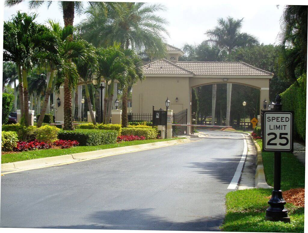 Polo West Homes for Rent in Wellington FL - Guard Gated Entry